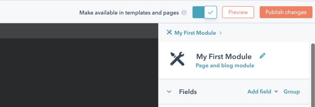 HubSpot Publish Changes Screenshot