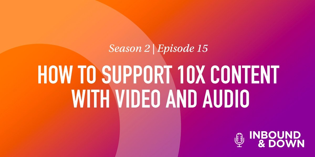 HOW TO SUPPORT 10X CONTENT WITH VIDEO AND AUDIO