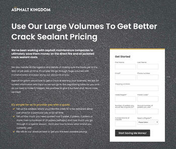 Asphalt Kingdom Crackfill Quote Landing Page
