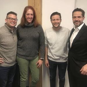 Jon Sasala, Nancy Riley, Andy Pitre and Jed Morey at HubSpot HQ