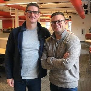 Kevin Dunn and Jon Sasala at HubSpot HQ