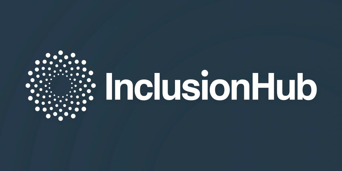InclusionHub logo on a blue background