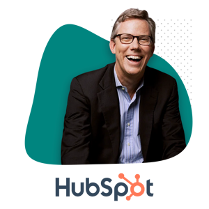 Photo of Brian Halligan and HubSpot Logo