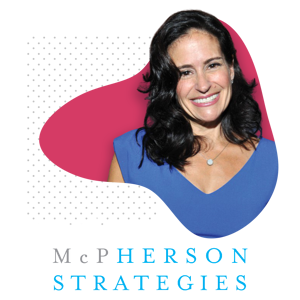 Photo of Susan McPherson and McPherson Strategies Logo