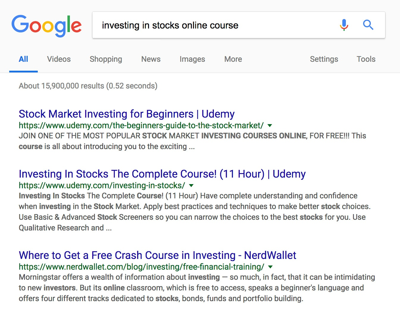 Investing-in-Stocks-Course-Result