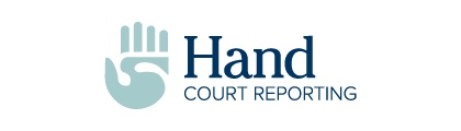 hand court reporting logo