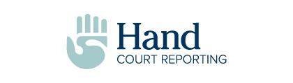 hand court reporting logo