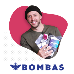 Dave Heath and Bombas Logo
