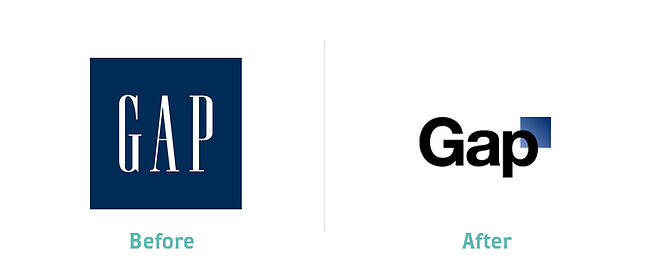 Gap Logo: Before and After