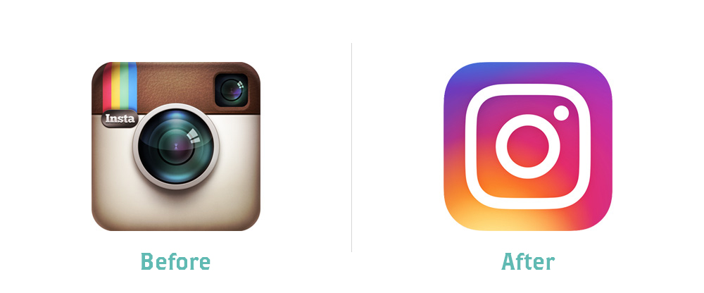 Instagram Logo: Before and After