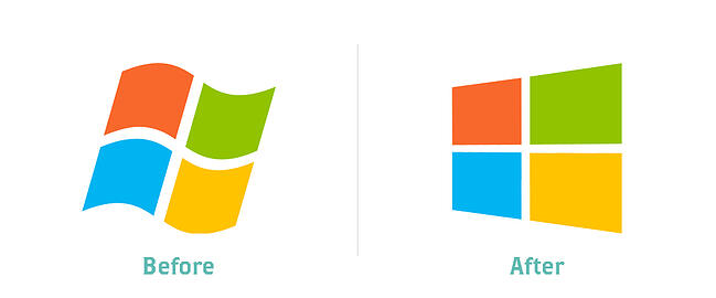 Windows Logo: Before and After