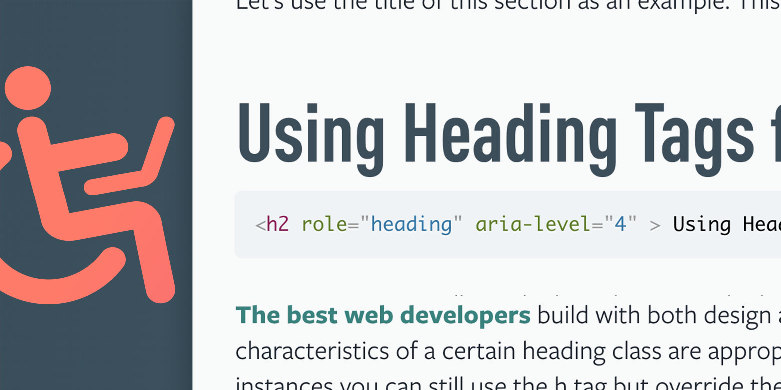 """Screenshot showing part of a blog with the focus on the title saying """"Using Heading Tags"""""""