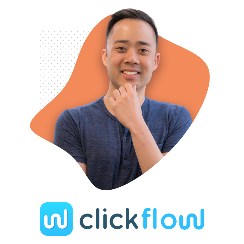 Photo of Eric Siu and Clickflow Logo