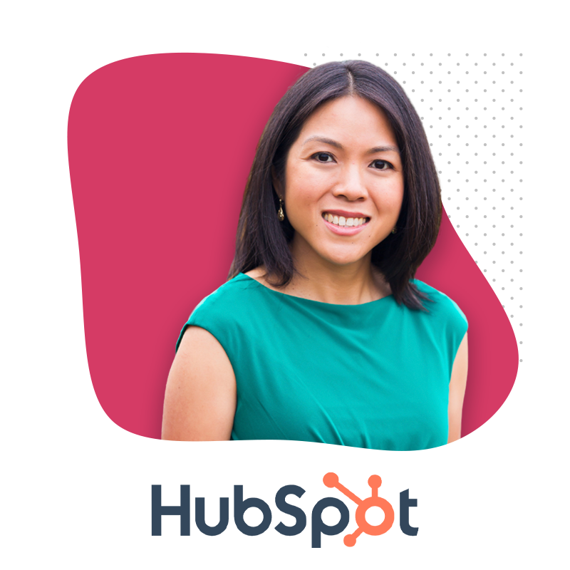 Photo of Katie Ng-Mak and HubSpot Logo