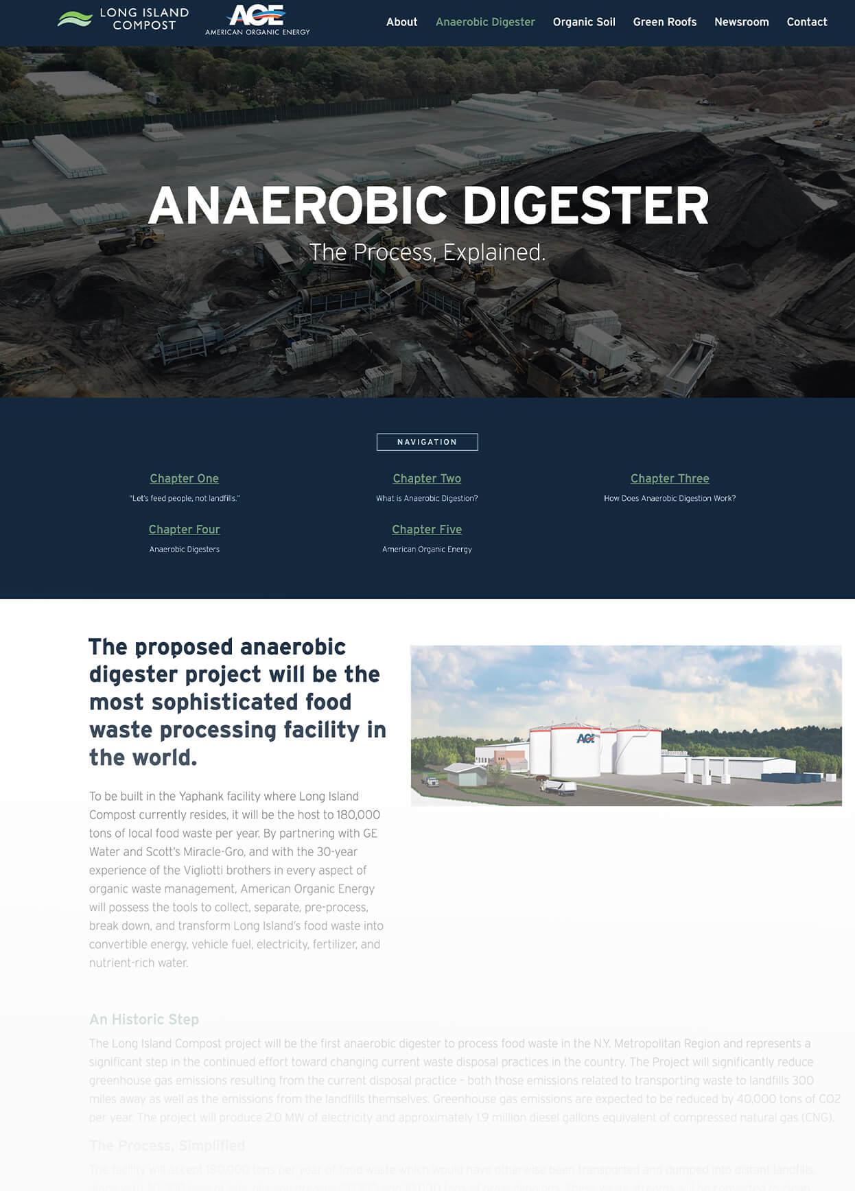 Screenshot of American Organic Energy Anaerobic DIigester Pillar