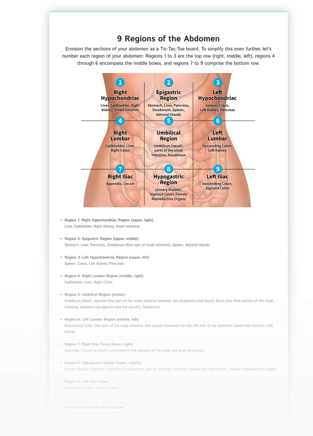 Screenshot of L I C D H Pain Locator- Where Does it Hurt Pillar 2